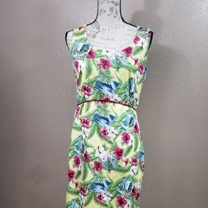 Dresses & Skirts - Yellow Hawaiian Floral Print Dress Size 10/12